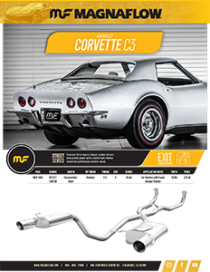Image of 1968-69 Corvette C3 Cat-Back / Crossmember-Back Exhaust Systems PDF for download