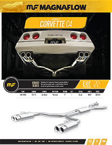 Image of 1986-96 Corvete C4 Axle-Back / Cat-Back Exhaust Systems PDF for download
