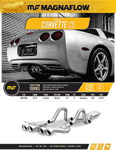 Image of 2000-2004 Corvette C5 Cat-Back Exhaust Systems PDF for download